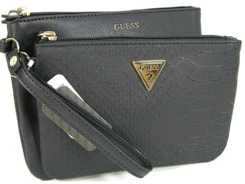 Guess Double Pouch Wrist Clutch Black 300x225 5 Tips For